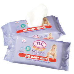TLC Premium Sensitive Fragrance Free baby wipes