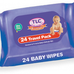 TLC Premium Baby Travel Pack Wipes