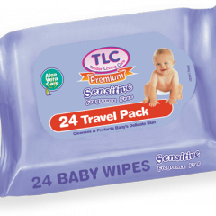 TLC Premium Baby Travel Pack Sensitive Wipes