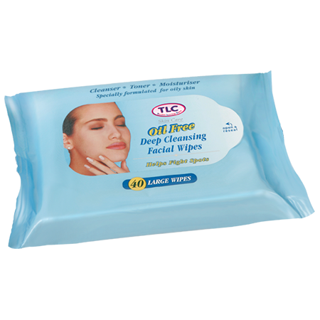 Oil Free Deep Cleansing Facial Wipes