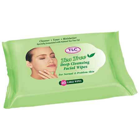 Tea Tree Deep Cleansing Facial Wipes