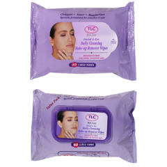 Facial & Eye Daily Cleansing Make-Up Remover Wipes