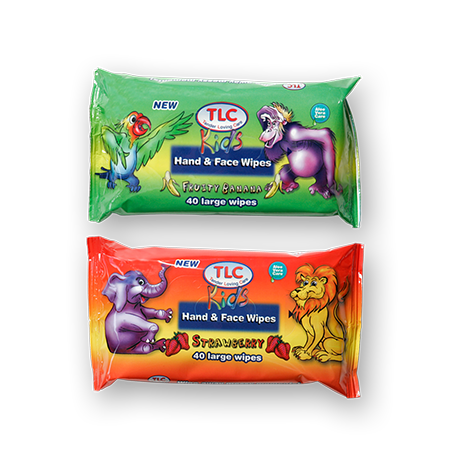 TLC Kids Hand & Face Wipes